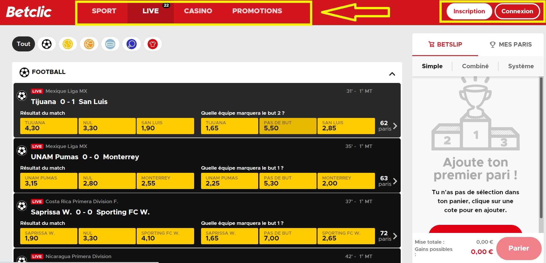 Betclic: Logiciel de casino qui est presenté en ligne